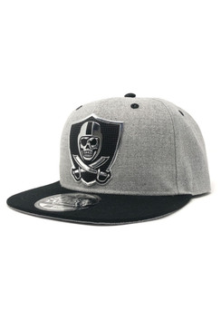 Vision Chrome Snap Back Hat - Heather Grey