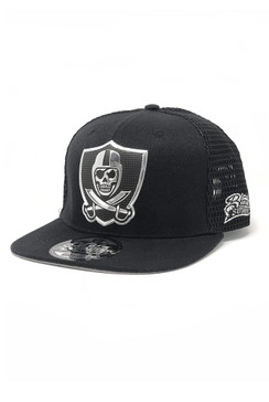 Liquid Chrome Mesh Snap Back Hat - Black