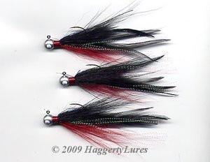Red White Wobble Bucktail Jigs Saltwater Surf Fluke Fishing 1-4 ounces
