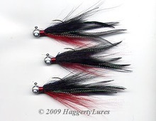 Round head bucktail deceiver jig - Red / Black