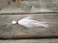 Limited Edition Teardrop Holy Joe Hair Jig 1/2 oz Red/White.
