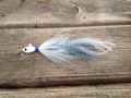 Limited Edition Blue Grizzly Holy Joe hair jig in a Guppy Head.