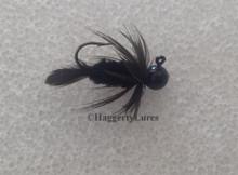 Black Chicken Butt - Chenille Crappie Jig