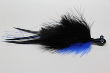 Black and Blue Holy Hannah Marabou Deceiver Hair Jig