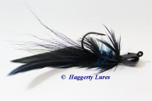 Black and Blue Lunker Hagg's Hellraiser Sculpin Jig.