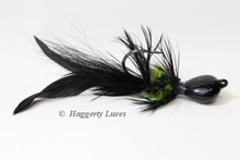 Black and Chartreuse Lunker Hagg's Hellraiser Sculpin Bugz Jig