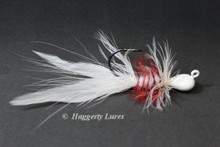 White and Red Lunker Hagg's Hellraiser Sculpin Bugz Jig