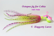 Pink and Chartreuse Octopus Bucktail Jig