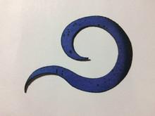 Midnight Curly Tail - Indigo Bluish Purple