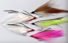 Bucktail deceiver fly in any color combination.