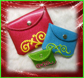 In The Hoop Clutch Bag and Coin Purse Design Set for Embroidery Machine Designs