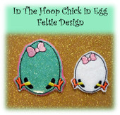 In the hoop Chick Egg Feltie Embroidery Machine Design
