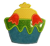 Chick in a Paint Cup 1 Applique Embroidery Machine Design