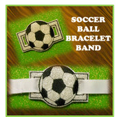 In The Hoop Ribbon Slide Bracelet Soccer Ball Embroidery Machine Design