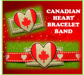 In The hoop Ribbon Slide Bracelet Canadian Heart Embroidery Machine Design