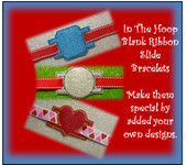 In The Hoop Ribbon Slider Bracelets Blank Embroidery Machine Designs