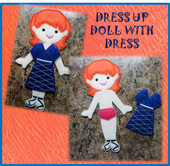 Felt Dress Up Fun Doll Freebie Embroidery Machine Design