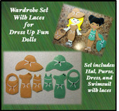 In The Hoop Dress Up Fun Doll Wardrobe with Laces Embroidery Machine Design Set