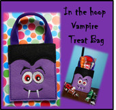 In The Hoop Vampire Treat Bag Embroidery Machine Design