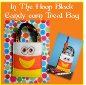 In The Hoop Candy Corn Halloween Treat Bag Embroidery Machine Design