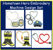 Hometown Hero Embriodery Machine Design Set