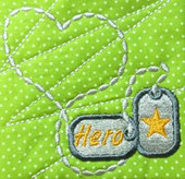 Hometown Hero Military Dog Tag Embroidery Machine Design