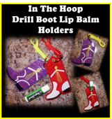 In the hoop Drill Boot Lip Balm Holder Embroidery Machine Design Set