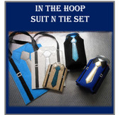 In The Hoop Suit n Tie Embroider Machine Design Set