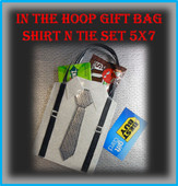 In The Hoop Suit n Tie Gift Bag 5x7 Embroidery Machine Design
