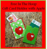 In The Hoop Gift Card Holder With Apple Machine Embroidery Design