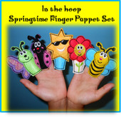 In the Hoop Springtime Finger Puppet Embroidery Machine Design Set
