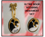 In The Hoop Wedding Ornament Embroidery Machine Design Set