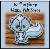 In The Hoop Skunk Felt Piece Embroidery Machine Design Set