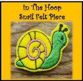 In The Hoop Snail Felt Piece Embroidery Machine Design Set
