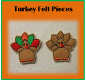 In The Hoop Turkey Felt Piece Embroidery Machine Designs