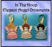 IN The Hoop Elegant Angels Ornaments Embroidery Machine Design Set