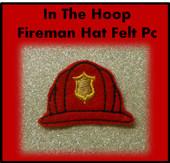 In the hoop Fireman Hat Felt Pc Embroidery Machine Design Set