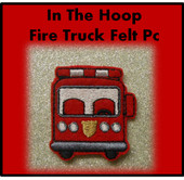 In The Hoop Fire Truck Felt Pc Embroidery Machine Design Set