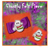 In The Hoop Ghostly Felt Piece Embroidery Machine Design Set