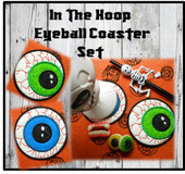 In The Hoop Eyeball Coaster Embroidery Machine Design Set
