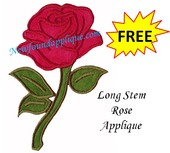 Long stem rose
