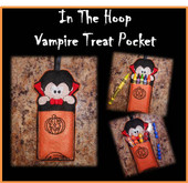 In The Hoop Vampire Treat Pocket Embroidery Machine Design