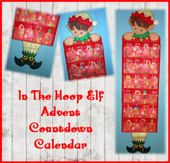 In the Hoop Advent Countdown Calendar Elf Embroidery Machine Design Set
