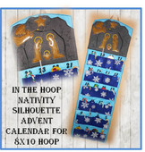 In The Hoop Nativity Cave Advent Calendar Christmas Countdown Embroidery Machine Design