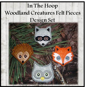 In The Hoop Woodland Felt Bits & Pieces Embroidery Machine Design Set