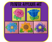 Flower Applique Embroidery Machine Design Set