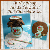 In The Hoop Lid and Label Hot Chocolate Embroidery Machine Design Set