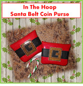 In The Hoop Santa Belt Coin Purse Embroidery Machine Design