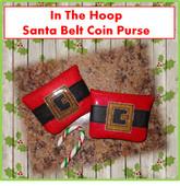 In The Hoop Santa Belt Coin Purse Embroidery Machine Design