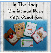 In the Hoop Christmas Faces Gift Card Embroidery Machine Design Set